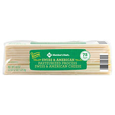 Member's Mark Pasteurized Process Swiss & American Cheese (72 slices)