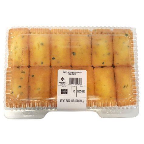 Member's Mark Sweet Jalapeno Cornbread Mini Loaves (12 ct., 24 oz.)