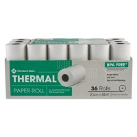 "Member's Mark Thermal Receipt Paper Rolls, 2 1/4"" X 85', 36 Rolls"