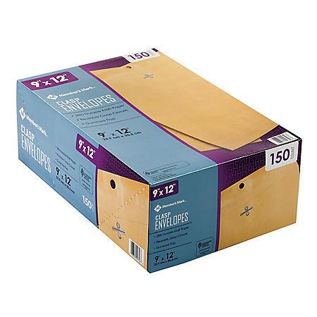 "Member's Mark Clasp Envelope 9"" x 12"" (150 ct.)"
