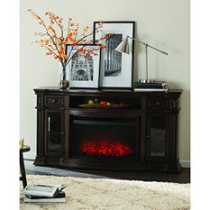 Member's Mark Trenton Wi-Fi Smart Electric Fireplace and Media Entertainment Mantel