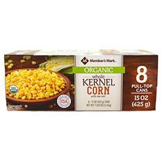 Member's Mark Organic Corn (15 oz can, 8 pk.)