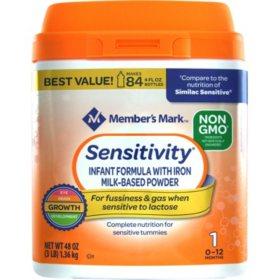 Member's Mark Non-GMO Infant Formula, Sensitivity (48 oz.)