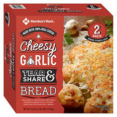 Member's Mark Cheesy Garlic Tear and Share Bread (38 oz., 2 pk.)