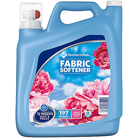 Member's Mark Liquid Fabric Softener, Spring Flowers Scent (170 oz., 197 loads)