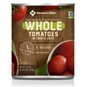 Member's Mark Whole Peeled Tomatoes In Tomato Juice (102 oz.)