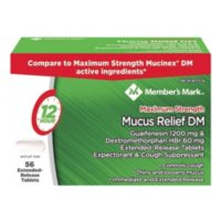 Members Mark Mucus Relief DM Tablets (56 ct.)