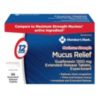 Members Mark Mucus Relief Extended Release MS Tablets (56 ct.)
