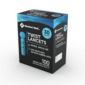 Member's Mark Twist Lancet, 30G