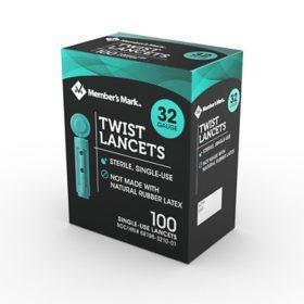 Member's Mark Twist Lancet, 32G