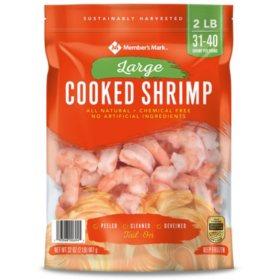 Member's Mark Cooked Large Shrimp (2 lb. bag, 31-40 pieces per pound)