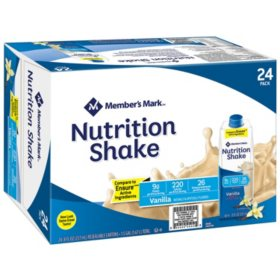 Member's Mark Nutritional Shake, Vanilla (8 oz., 24 ct.)