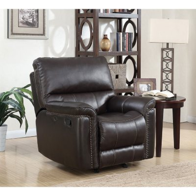 Memberu0027s Mark Buchanan Top Grain Leather Recliner