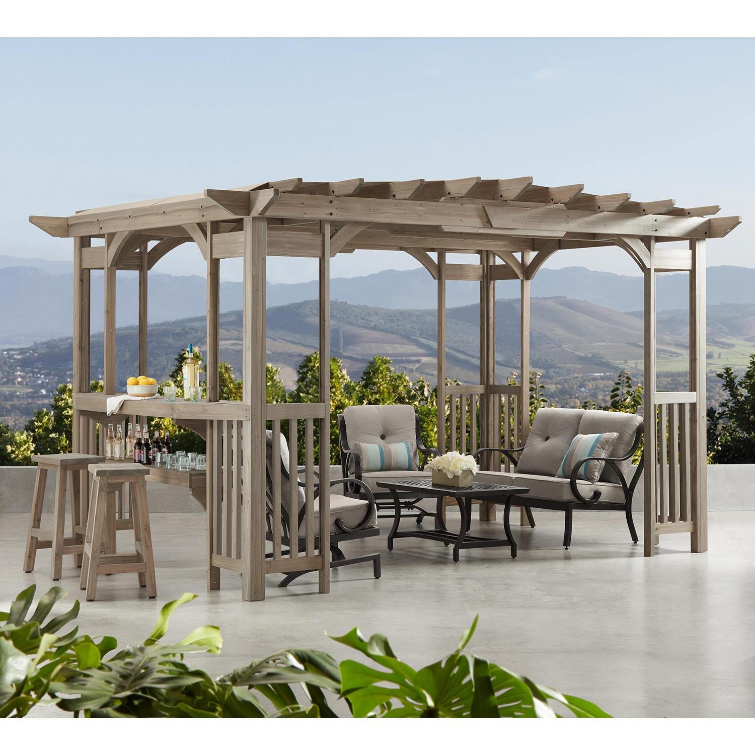 Member's Mark Charleston 14' x 10' Pergola with Sunshade
