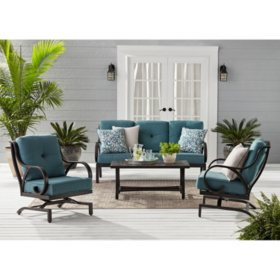 Member's Mark Harbor Hill 4-Piece Deep Seating Set - Cast Lagoon