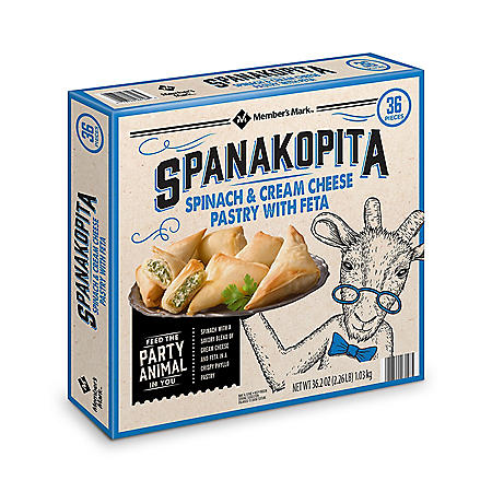 Member's Mark Spanakopita, Frozen (18 per tray, 2 pk.)