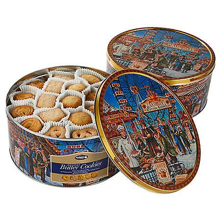 Jacobsens Original Premium Danish Butter Cookies 2-Pack (2 x 4 lbs tins)