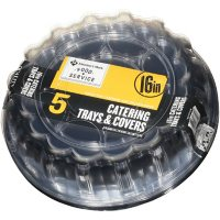 """Member's Mark 16"""" Catering Tray with Lids (5 pk.)"""