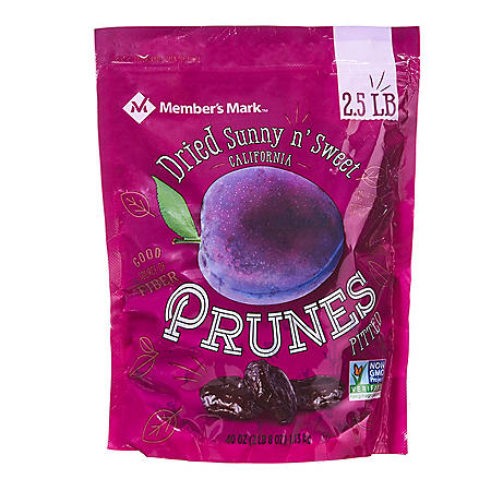 Member's Mark Dried Sunny n' Sweet California Prunes Pitted (40 oz.)