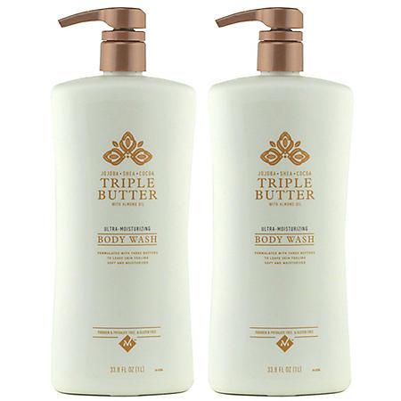 Member's Mark Triple Butter Ultra-Moisturizing Body Wash (33.8 fl. oz., 2 pk.)