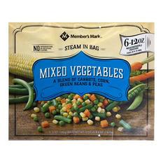 Member's Mark Mixed Vegetables, Frozen (12 oz. pouches, 6 pack)