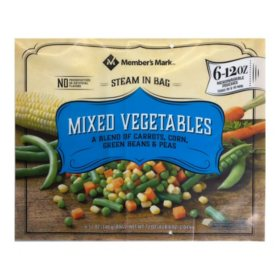 Member's Mark Mixed Vegetables, Frozen (12 oz. pouches, 6 pack)