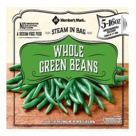 Member's Mark Whole Green Beans (16 oz. pouches, 5 count)