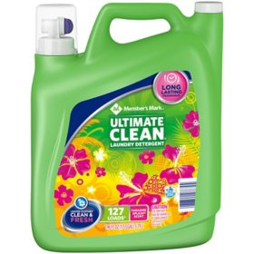 Member's Mark Ultimate Clean Liquid Laundry Detergent, Paradise Splash (127 loads, 196 oz.)