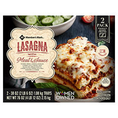 Member's Mark Lasagna With Meat Sauce (38 oz. trays, 2 pack)