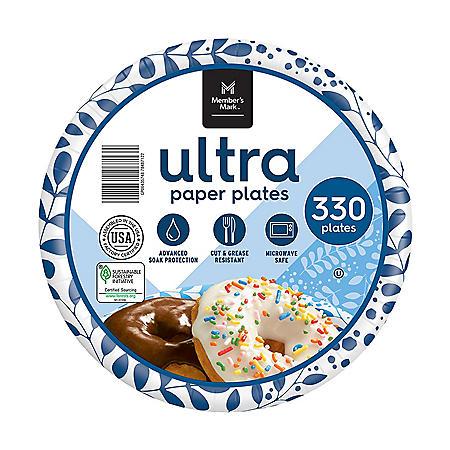 "Member's Mark Ultra Dessert/Snack Paper Plates (6.875"", 330 ct.)"
