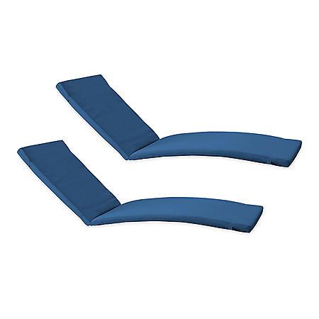 Member's Mark Sunbrella Chaise Lounge Cushion, 2-Pack