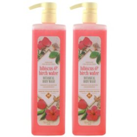 Member's Mark Botanical Body Wash, Hibiscus & Birch Water (33.8 fl. oz., 2 pk.)