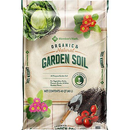 Member's Mark Organic & Natural Garden Soil, 40 Quarts
