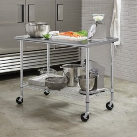 "Member's Mark Commercial Stainless Steel Work Table, 48"" W x 30"" D x 37""H"