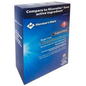 Member's Mark 4mg Nicotine Gum, Original Flavor (396 ct.)