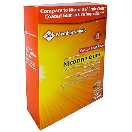 Member's Mark 4mg Nicotine Gum, Coated Fruit Flavor (231 ct.)