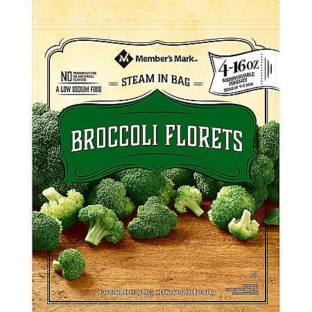 Member's Mark Steamable Broccoli Florets (1 lb. bags, 4 pk.)