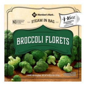 Member's Mark Broccoli Florets (16 oz. pouches, 4 count)
