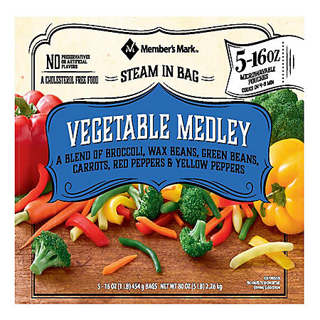 Member's Mark Vegetable Medley (16 oz. pouches, 5 count)