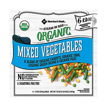 Member's Mark Organic Frozen Mixed Vegetables (12 oz. pouch, 6 ct.)