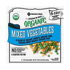 Member's Mark Organic Frozen Mixed Vegetables (12 oz. pouch, 6 ct.)