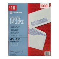 Member's Mark Security Envelope #10, Single Window (500 ct.)