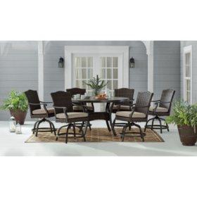 Phenomenal Chelsea 7 Piece Dining Set Shale Sams Club Dailytribune Chair Design For Home Dailytribuneorg