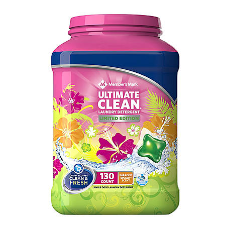 Member's Mark Ultimate Clean Laundry Detergent, Paradise Splash (130 ct.)