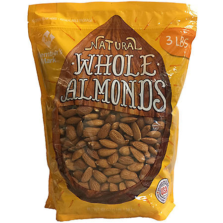Member's Mark Natural Whole Almonds (3 lbs.)
