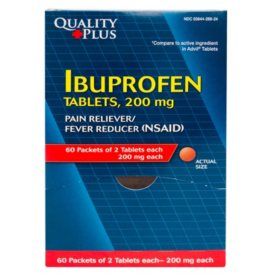 Quality Plus Ibuprofen Dispenser, 60 packets of 2 tablets each