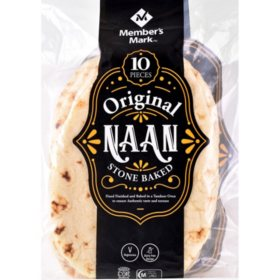 Member's Mark Original Stone Baked Naan (35.2 oz., 10 ct.)