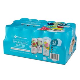 Member's Mark Unsweetened Sparkling Water Variety Pack (12oz / 24pk)