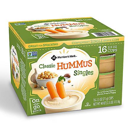 Member's Mark Classic Hummus Singles (16 pk.)