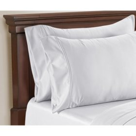 Hotel Premier Collection by Member's Mark 650 Thread-Count Egyptian Cotton 2pk Pillowcases (Assorted Sizes and Colors)